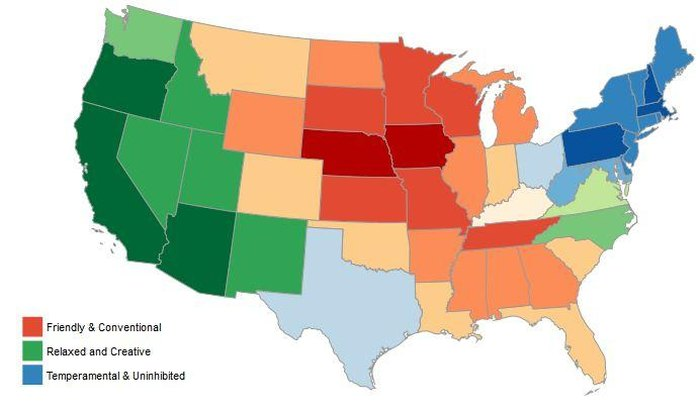 Personalities by State