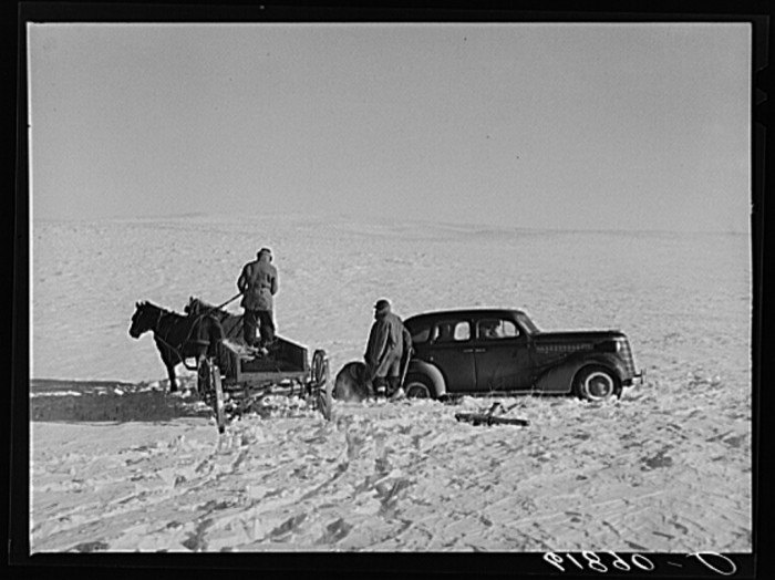government car - life in south dakota