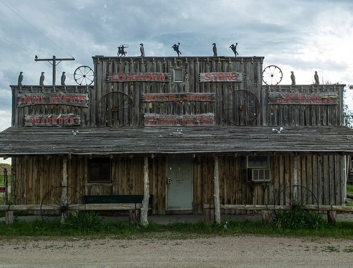 Longhorn General Store in Scenic, South Dakota.