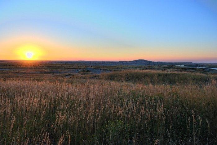 A sunrise on the prairie of Wall, SD - sunrises in south dakota