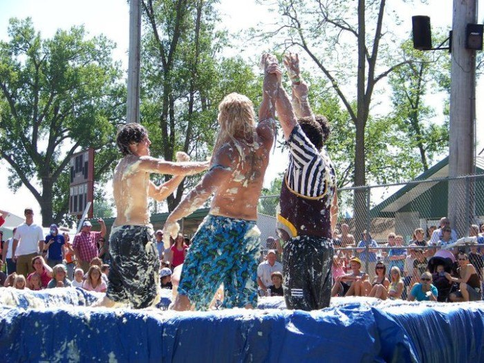 Every year, a Mashed Potato Wrestling event takes place in Clark, SD.