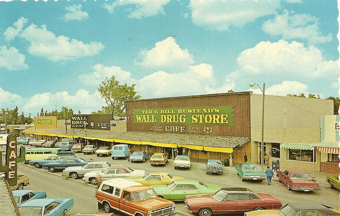 The Famous Wall Drug General Store in Wall, South Dakota.