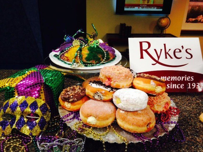Ryke's bakery makes all different types of donuts including paczkis.