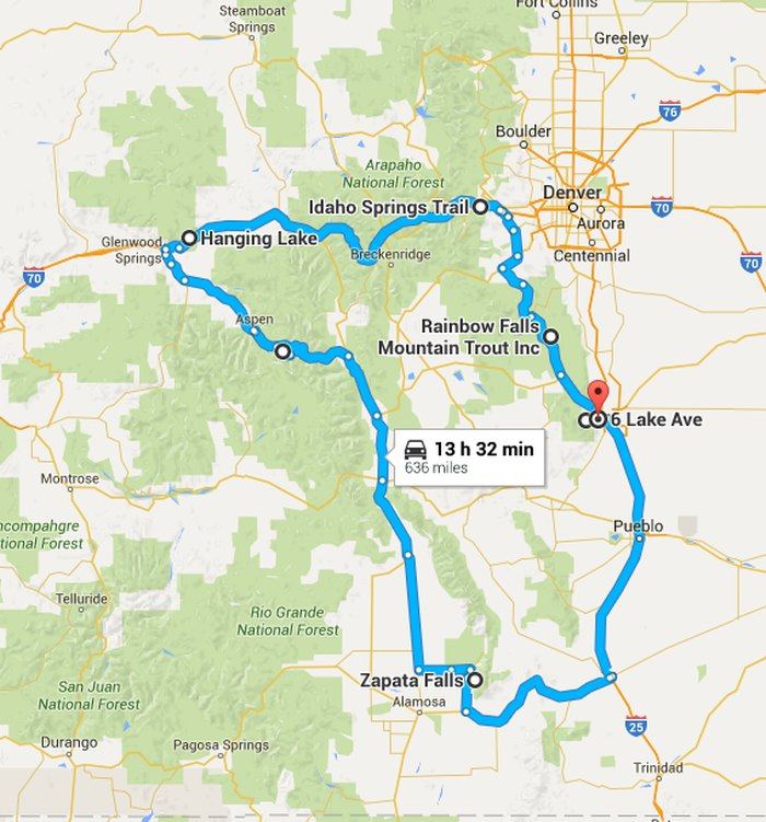 Colorado Waterfalls Map The Ultimate Colorado Waterfalls Road Trip