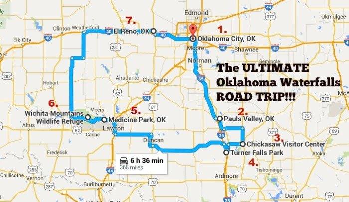 The Ultimate Oklahoma Waterfalls Road Trip