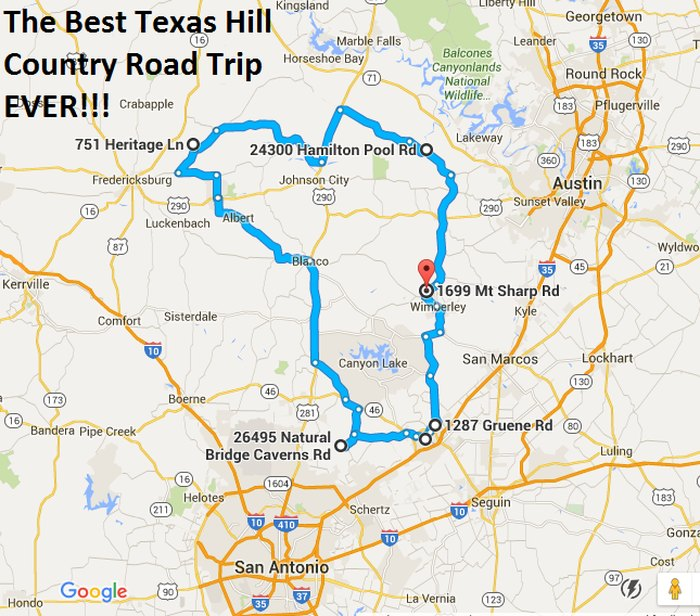 Map Of Texas Hill Country The Ultimate Texas Hill Country Road Trip