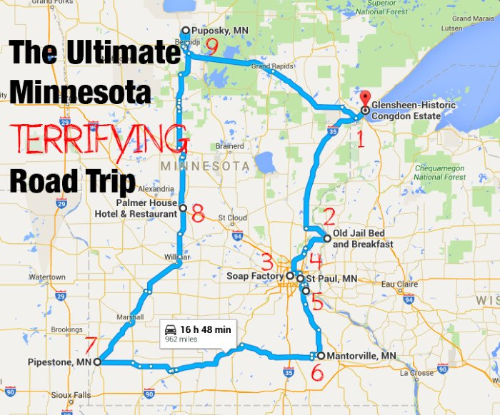 The Ultimate Terrifying Minnesota Road Trip Is Right Here ...