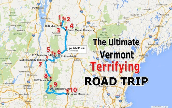 The Ultimate Terrifying Vermont Road Trip on