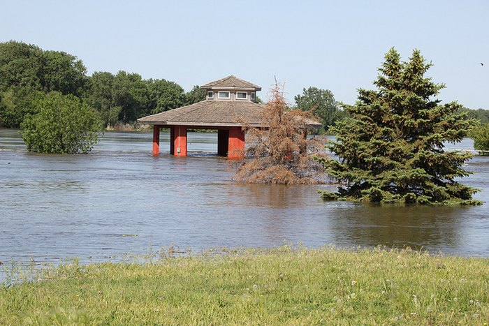 Flooding in North Sioux City, SD