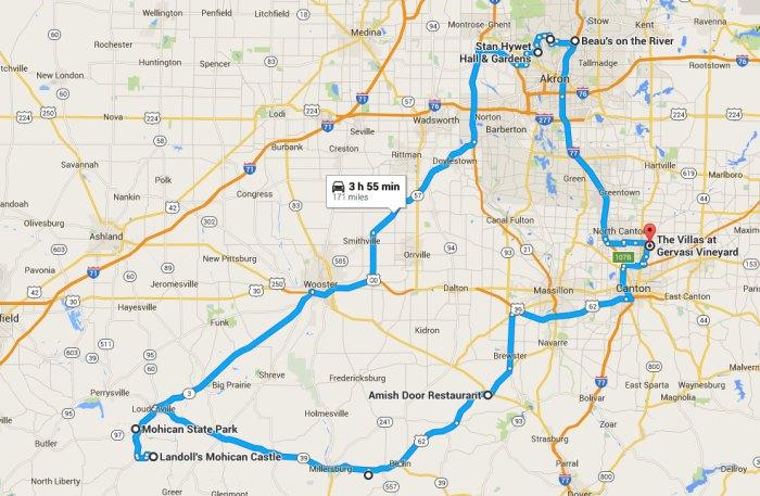 A Unique Ohio Road Trip on map of akron ohio, bing akron ohio, flickr akron ohio, google map akron oh, city ward map akron ohio, facebook akron ohio, mapquest akron ohio, canton ohio, bret taylor akron ohio, google map cincinnati ohio, google map zanesville ohio, weather akron ohio,