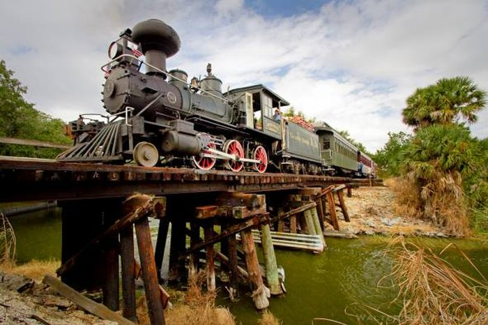 Take A Ride On An Authentic 1907 Steam Train In Florida