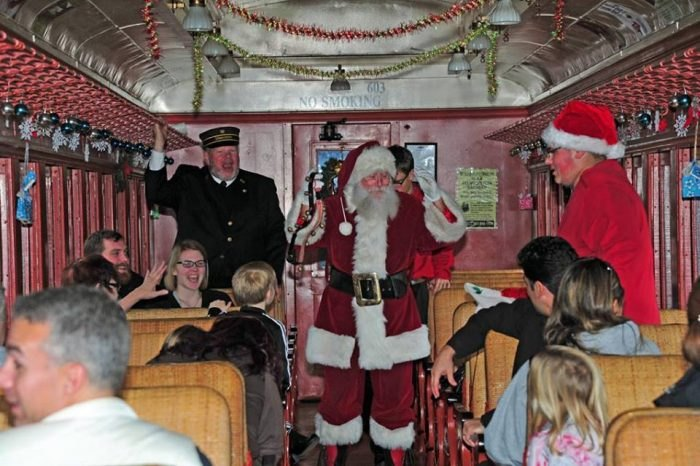 Santa on Wilmington & Western Railroad train Delaware