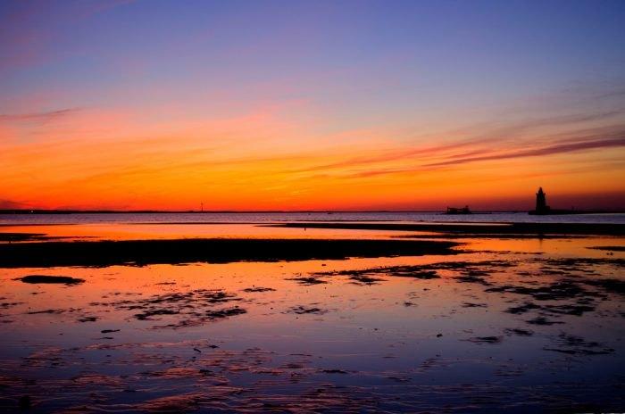 Delaware beach sunset