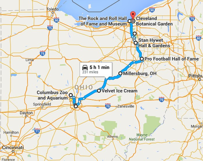10 Attractions You Can Visit On One Tank Of Gas In Ohio on