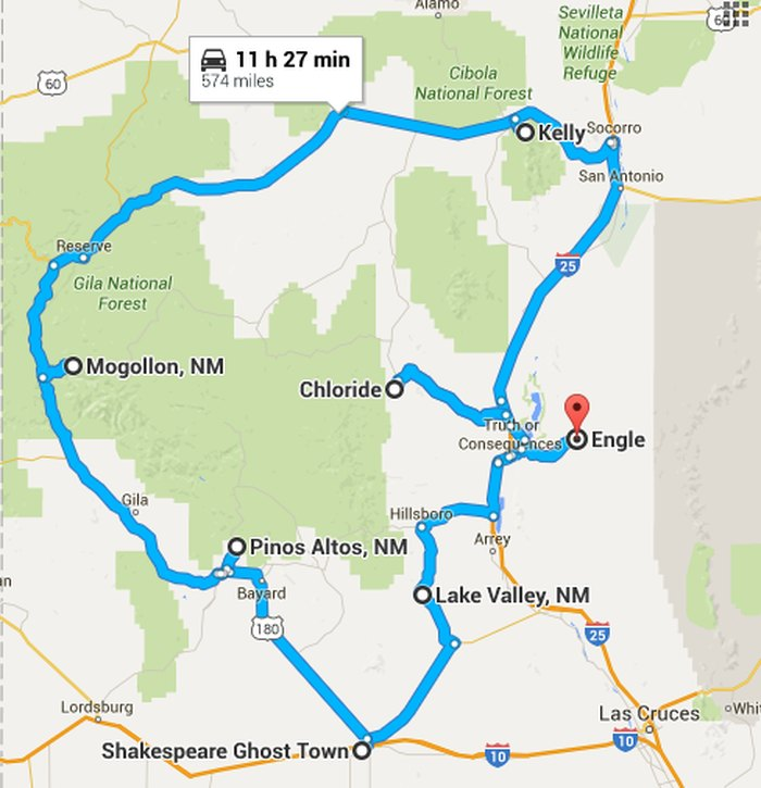 Map Of Arizona Ghost Towns.A Haunting Road Trip Through New Mexico S Ghost Towns