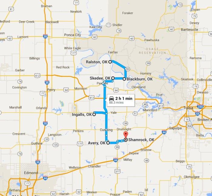 Take This Haunted Road Trip Through Oklahoma's Ghost Towns  Map Of Oklahoma City Ok on map okc ok, google maps newkirk ok, counties in oklahoma city ok, downtown oklahoma city ok, city of broken arrow ok,