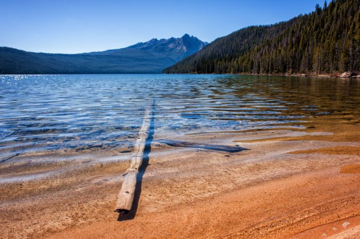 Idaho lake beach