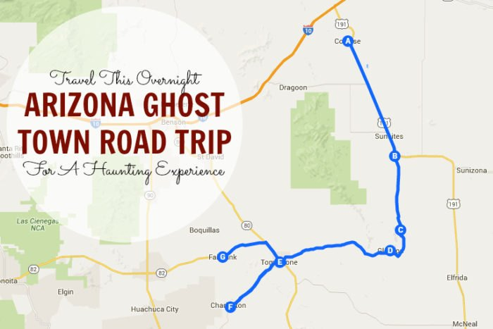 Map Of Arizona Towns.Travel This Overnight Arizona Ghost Town Road Trip