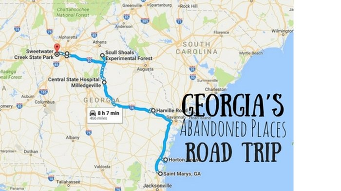 Map Of Georgia Hospitals.Georgia S Most Abandoned Places Road Trip