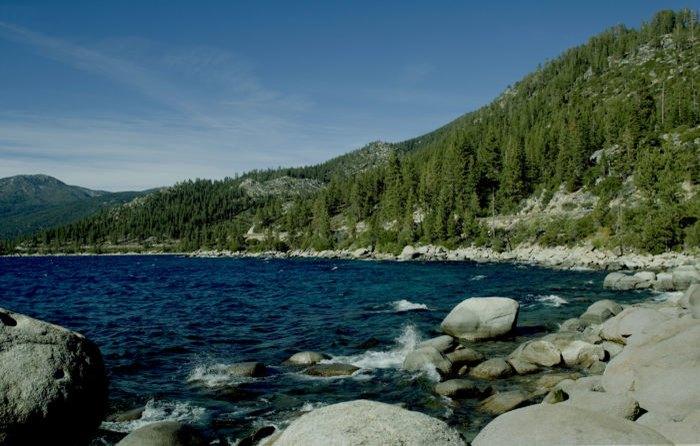 blue water lake tahoe nevada