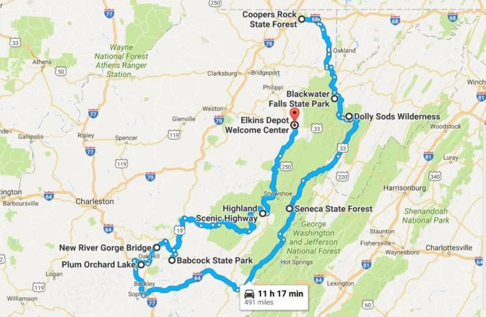 Here's Your Road Trip To See The Best Fall Foliage In West ... on weather charleston wv map, shanks wv map, davis mountain resort map, hotels charleston wv map, morgantown wv map, snowshoe mountain ski, shady spring wv map, snowshoe ski resort, wv road map, city of martinsburg wv map, fairfax stone wv map, snowshoe virginia, killington vt map, sistersville wv map, wayne wv map, newburg wv map, cooper's rock state forest trail map, wv state map, arbovale wv map, marlinton wv map,