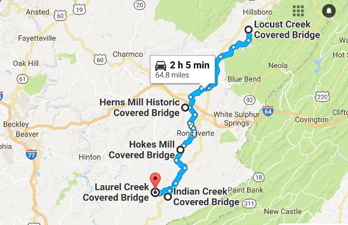Travel This Covered Bridge Trail In West Virginia