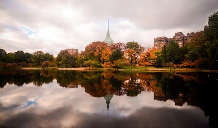 University Circle in fall