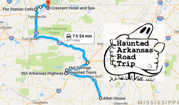 Take This Road Trip To The Most Haunted Places In Arkansas