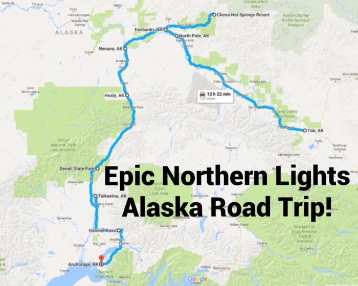 This Road Trip Takes You To The Best Places To See The ... Road Map Of Northern Alaska on road map france, road map washington, road map hawaii, road map canada, road map manitoba, road map new jersey, road map china, road map baffin island, road map iceland, road map guatemala, road map kenya, road map scandinavia, road map ukraine, road map europe, road map siberia, road map maryland, road map connecticut, road map utah, road map japan, road map virginia,