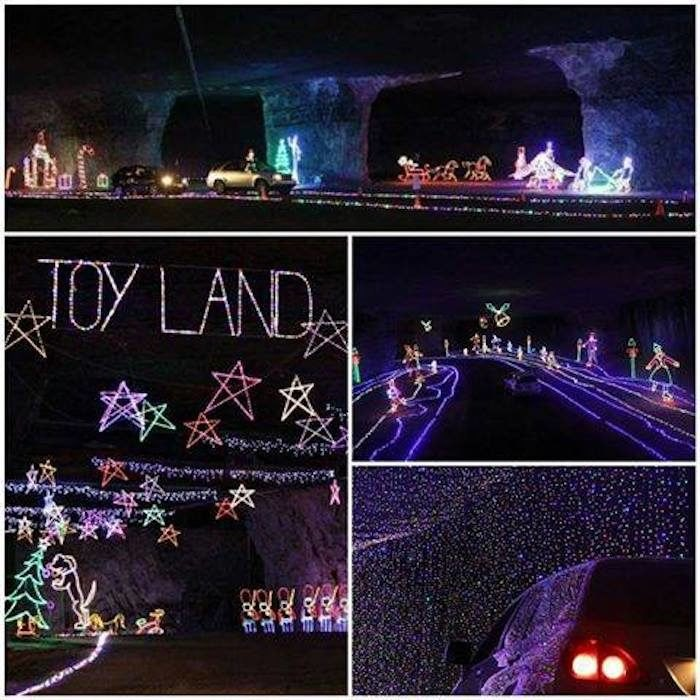 Mega Cavern Christmas Lights.Lights Under Louisville Is A Unique Christmas Cave In Kentucky