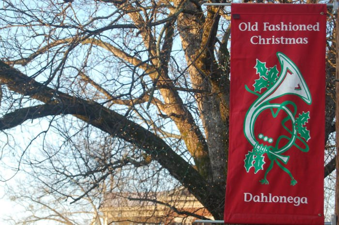 Christmas Town In Georgia Dahlonega.The Charming Historic Village In Georgia With An Old
