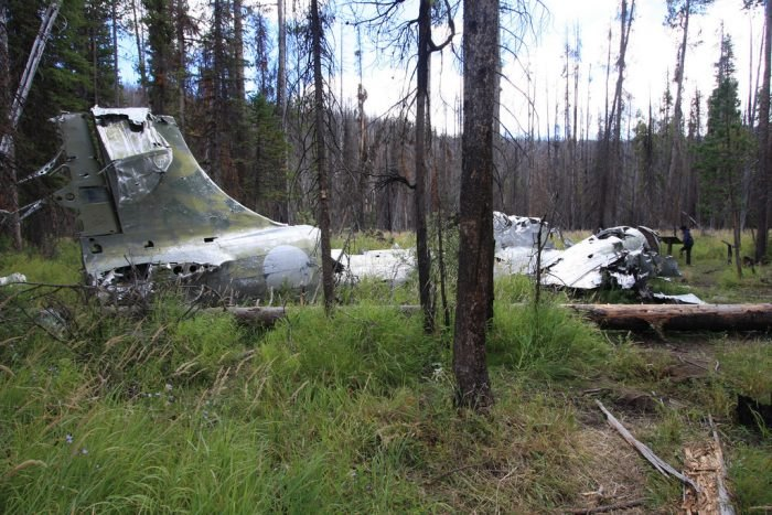 B-23 Dragon Bomber Plane Crash Site - Idaho