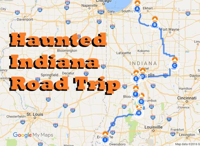 The 10 Ultimate Road Trips to Take Across Indiana Map A Road Trip With Stops on awesome map, love map, a united states map,