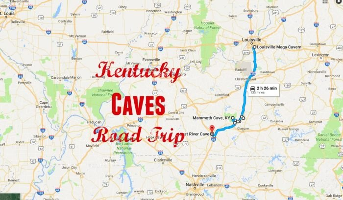 on caves in kentucky map
