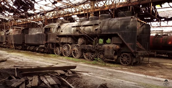 Not Many People Know This Massive Locomotive Graveyard Exists