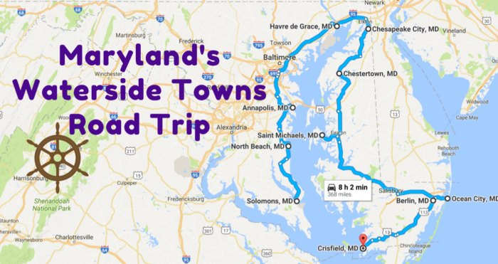 Maryland's Most Picturesque Waterside Towns Road Trip