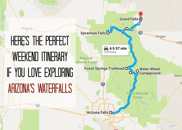The Perfect Weekend Itinerary To Explore Arizona's Waterfalls on