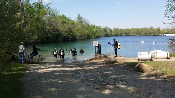 Natural Sapphire Swimming Pool In Ohio: White Star Quarry