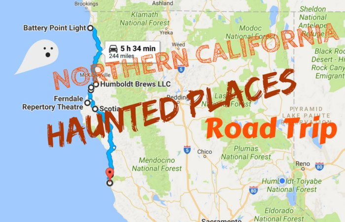 California Map Coastal Drive.Take This Road Trip To See 9 Of The Scariest Places In Northern