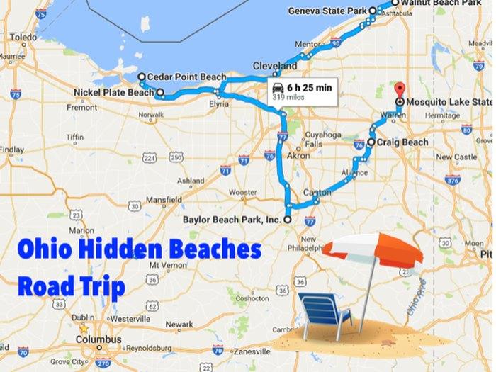 The Best Beaches In Ohio Along A Hidden Beaches Road Trip Cedar Point Ohio Map on