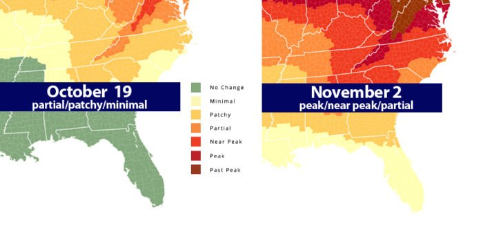 This Map Shows Where And When To See Fall Colors in North ...