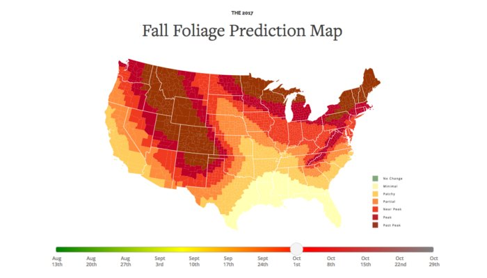 Foliage Map New York 2017.Here Are The Best Times And Places To View Fall Foliage In