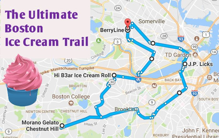 The Ultimate Ice Cream Trail Through Boston on