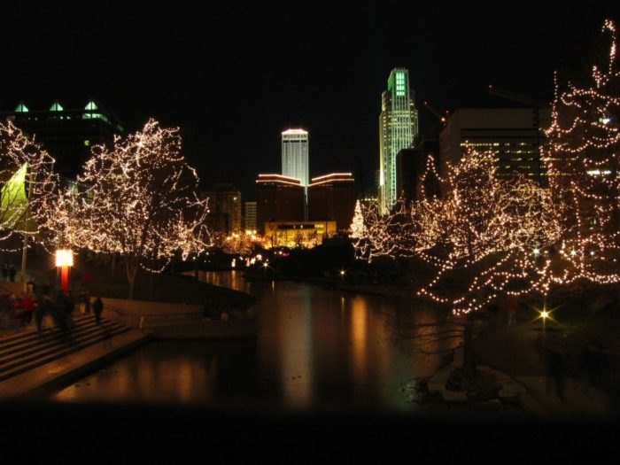 Omaha's Holiday Lights Festival kicks off every year at Thanksgiving and runs through January 1st. It encompasses an impressive 40 city blocks in downtown ...