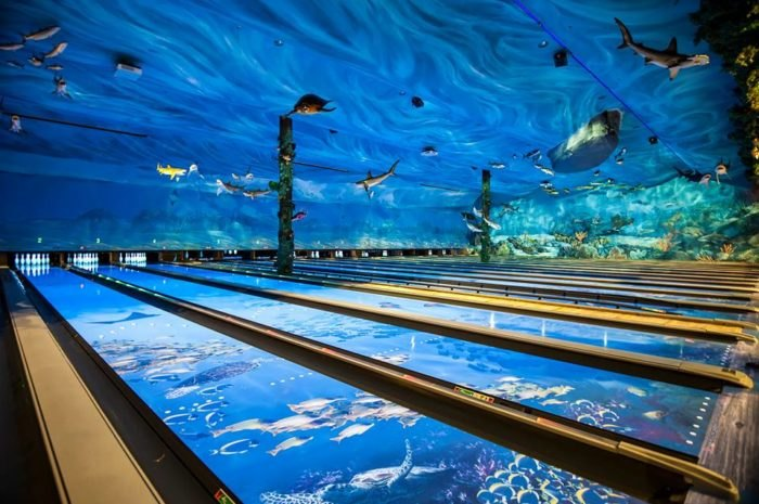 This One-Of-A-Kind Ocean Themed Restaurant And Bowling Alley
