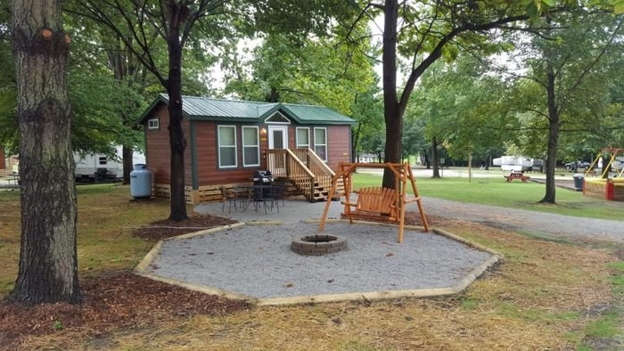 KOA Lebanon/Cincinnati NE Is Best Log Cabin Campground Near