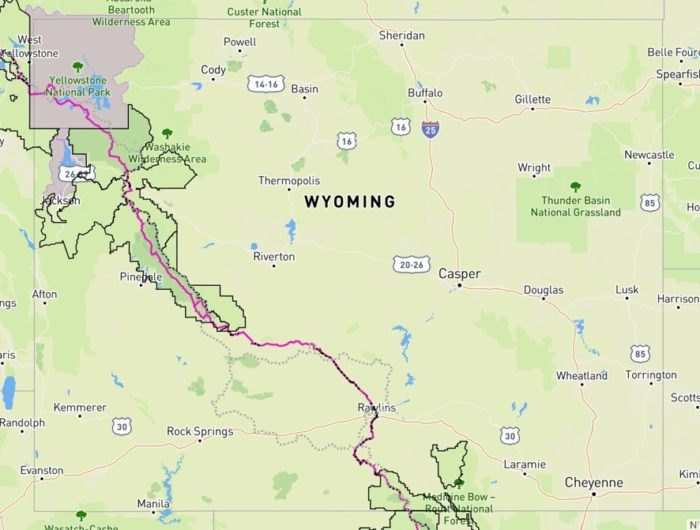 The Continental Divide Trail Spans Across The Entire State Of Wyoming