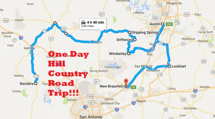 The Best Texas Hill Country Road Trip Only Takes One Day