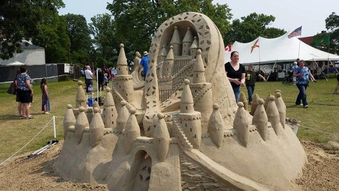Blue water sandfest is best sand sculpting festival in michigan