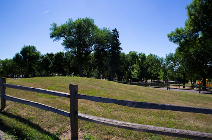Indian Burial Mounds At Sherman Park In Sioux Falls, South
